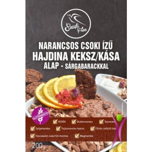 Szafi Free Narancsos csoki ízű hajdina keksz / kása alap - sárgabarackkal  200g
